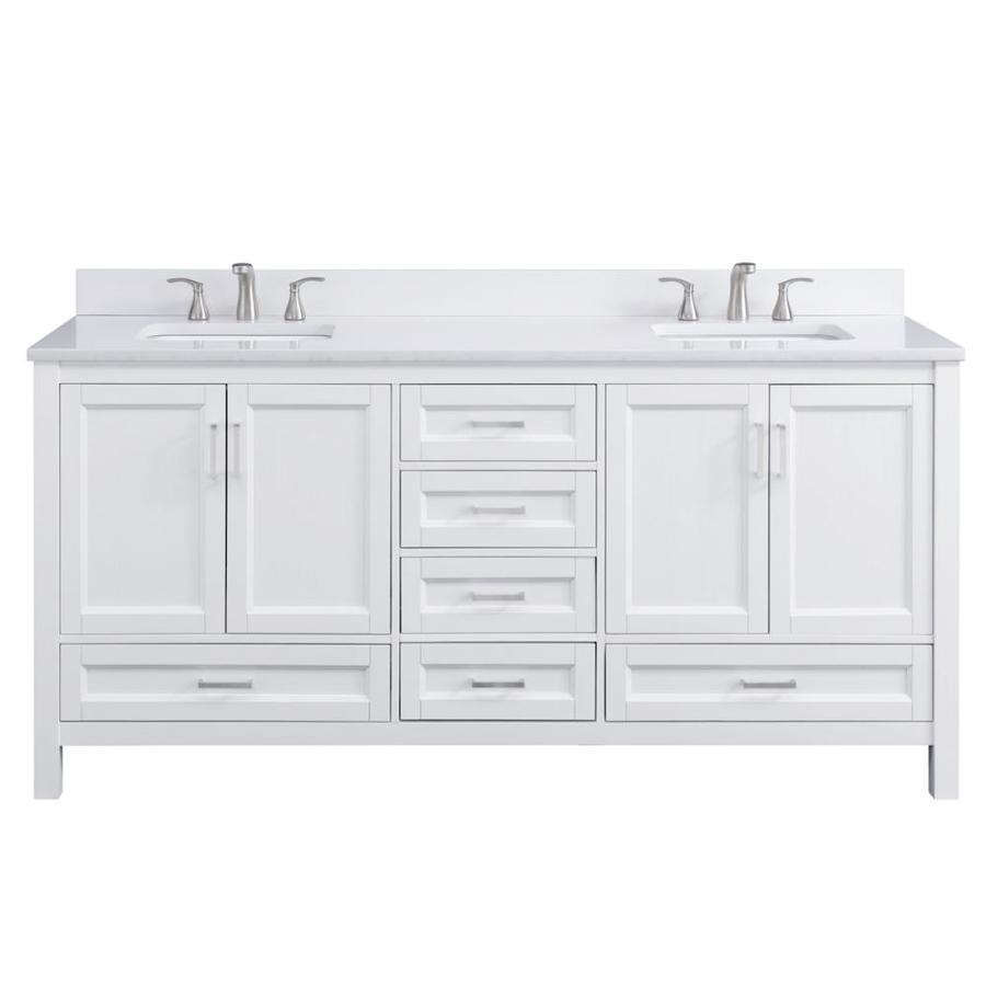 white oak double sink bathroom vanity