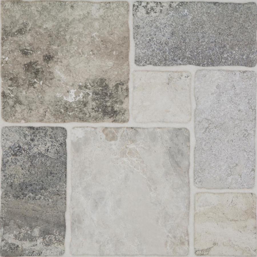 style selections verona gray 20 in x 20 in glazed porcelain floor tile