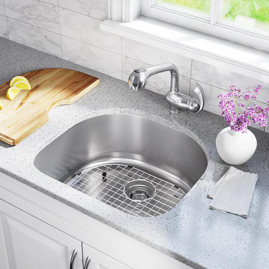 mr direct undermount 23 5 in x 21 in stainless steel single bowl kitchen sink