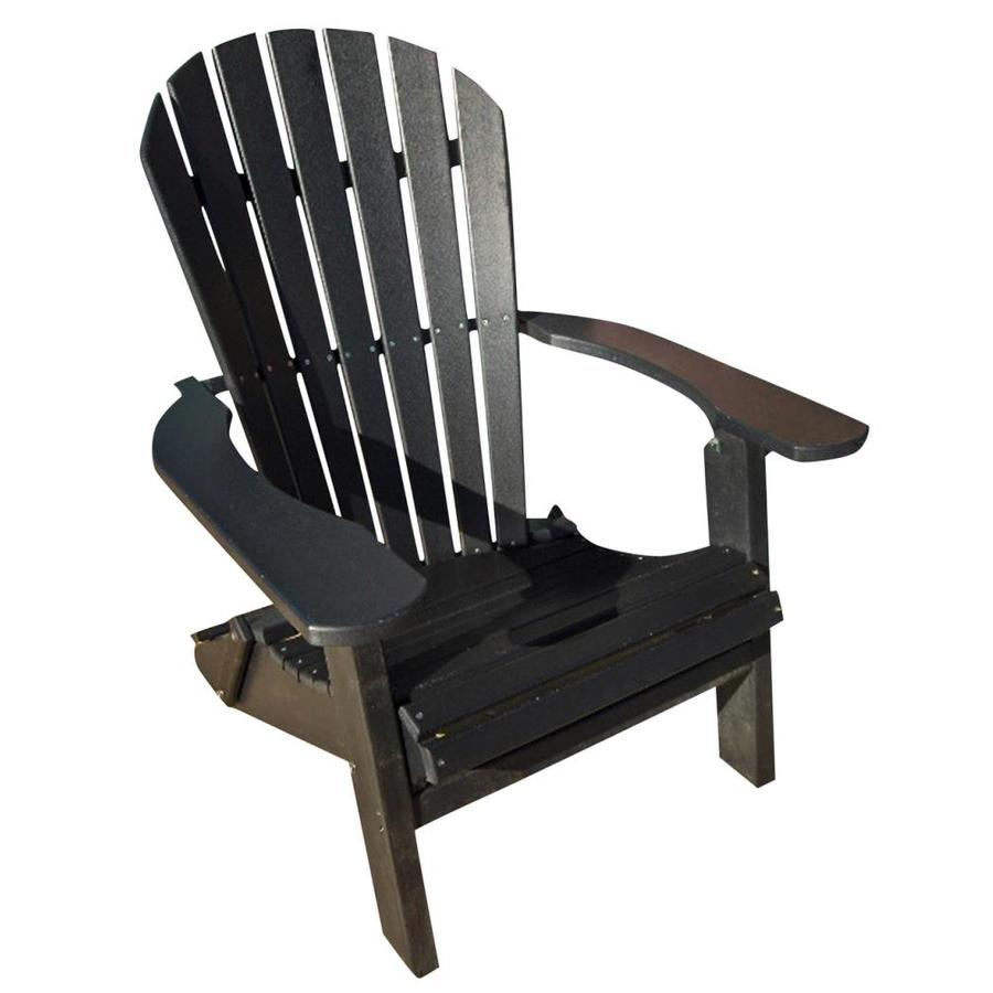 phat tommy black plastic frame stationary adirondack chair s with slat seat seat