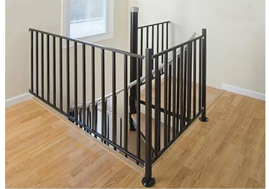Wrought Iron Stair Railing Kits At Lowes Com   Rod Iron Stair Railing   Balusters   Horizontal   Ironwork   Banister   Spanish Style