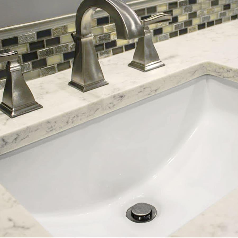 nantucket sinks great point white undermount rectangular bathroom sink with overflow drain 20 5 in x 14 75 in