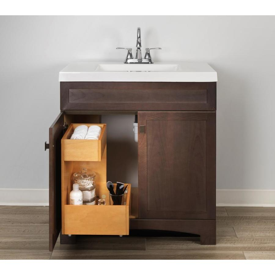 style selections vanity storage natural