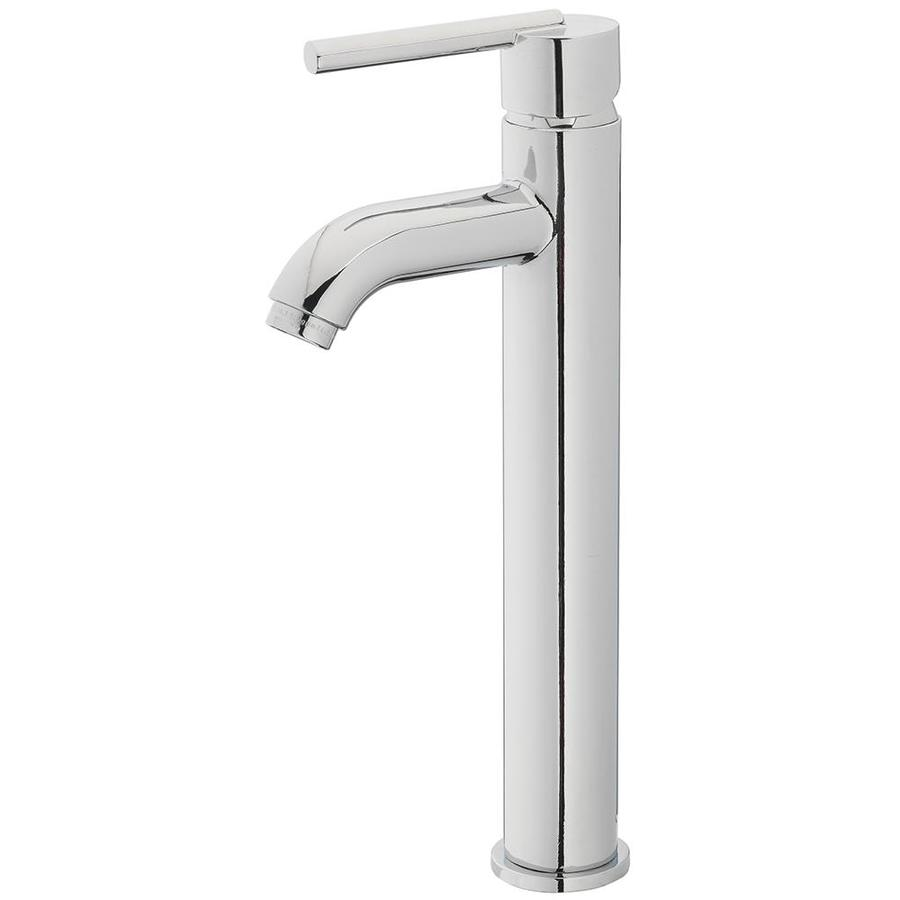 allen roth harlow chrome 1 handle vessel watersense bathroom sink faucet with drain and deck plate