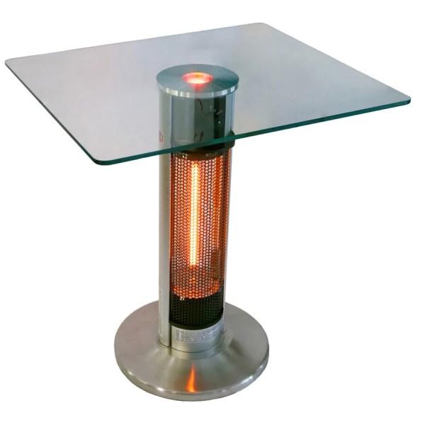 outdoor patio table heaters Shop EnerG+ 5100 110 Silver/Black Aluminum Electric Patio