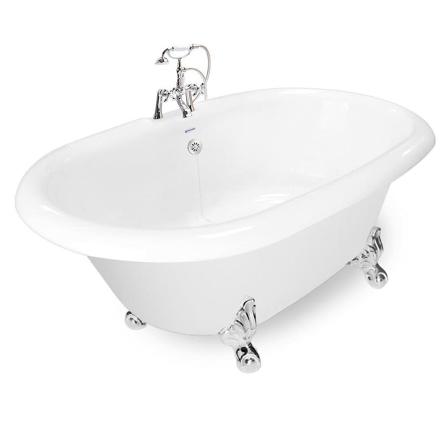 Shop American Bath Factory 72 In White Acrylic Oval Back
