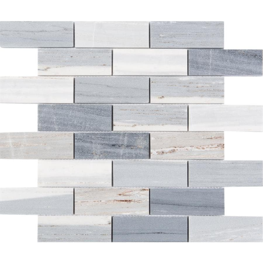 satori palissandro 12 in x 12 in polished natural stone marble brick marble look wall tile lowes com