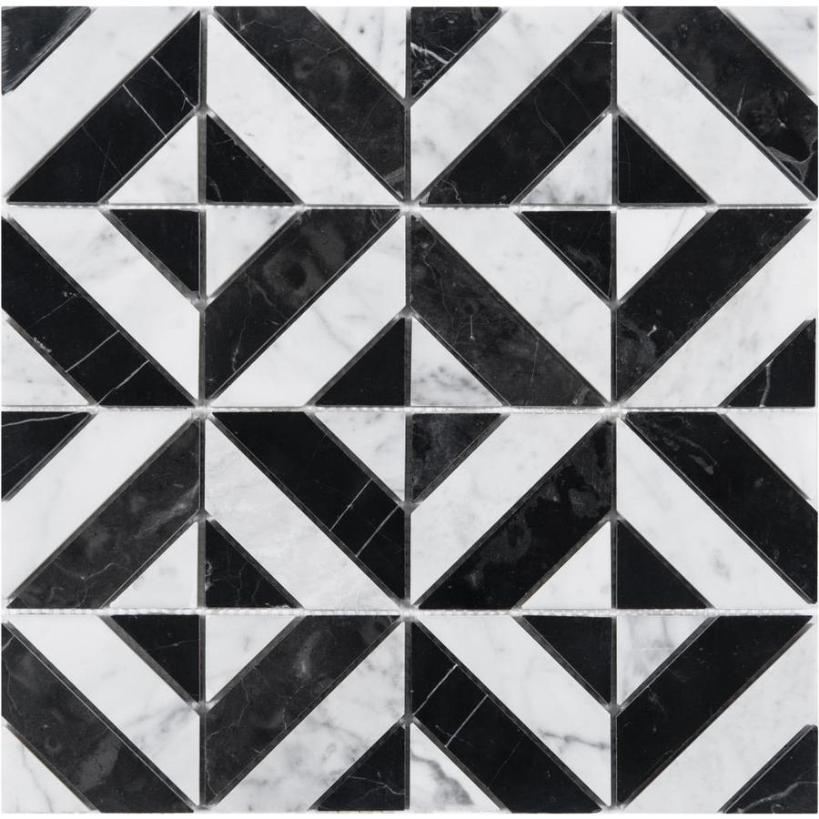 black and white tile at lowes com