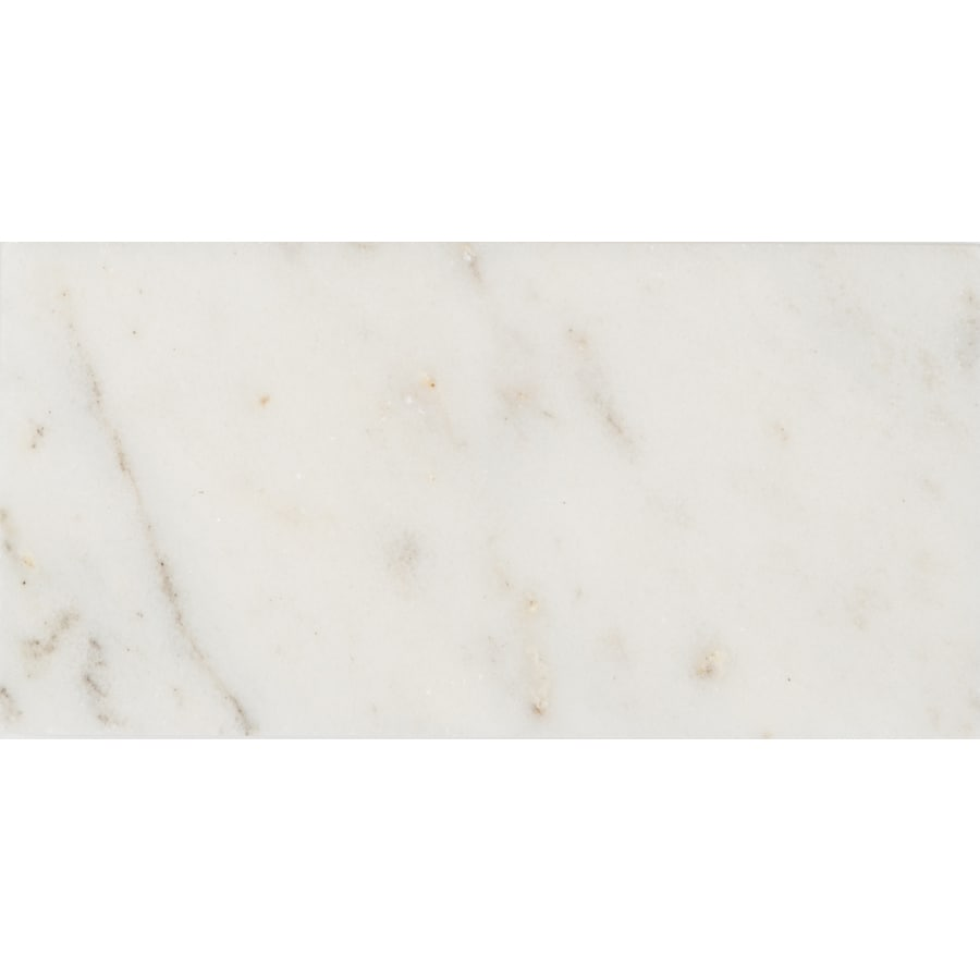 satori 8 pack venatino polished 3 in x 6 in polished natural stone marble subway wall tile lowes com