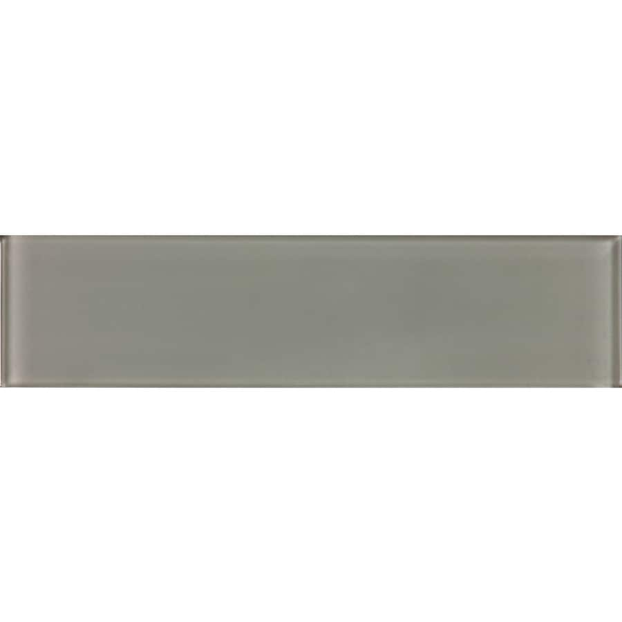 allen roth smoke 3 in x 12 in glossy glass subway wall tile