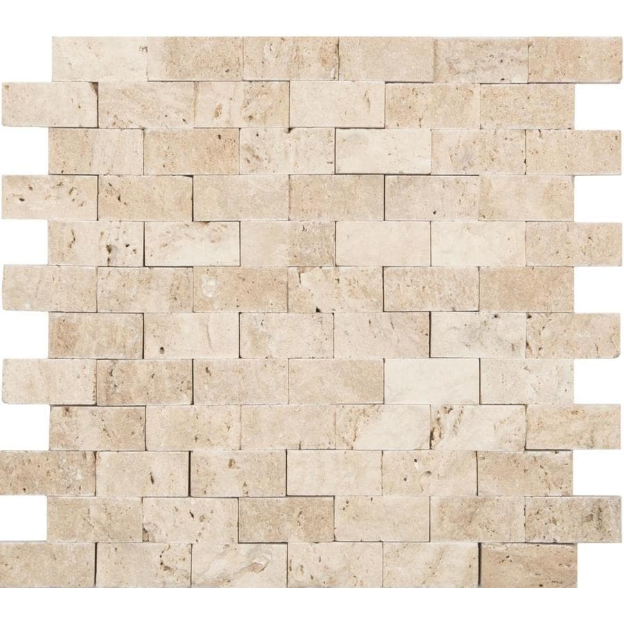 anatolia tile ivory 12 in x 12 in natural stone travertine brick wall tile