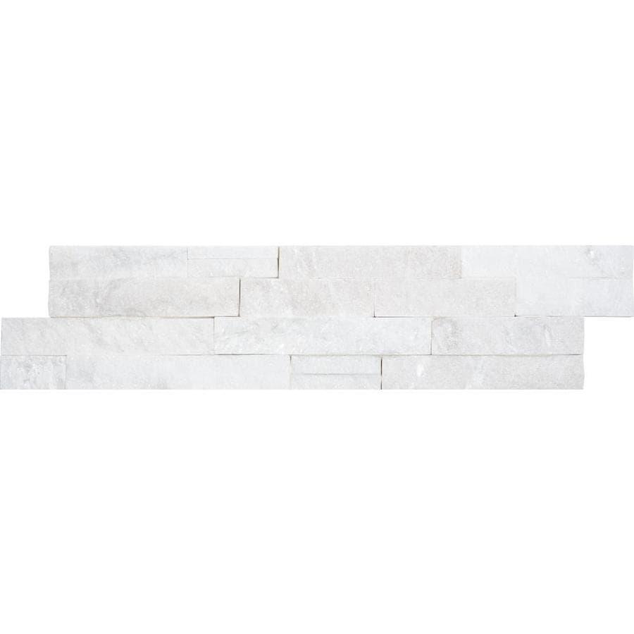 satori arctic ledgestone 6 in x 24 in natural stone quartz stone look wall tile lowes com