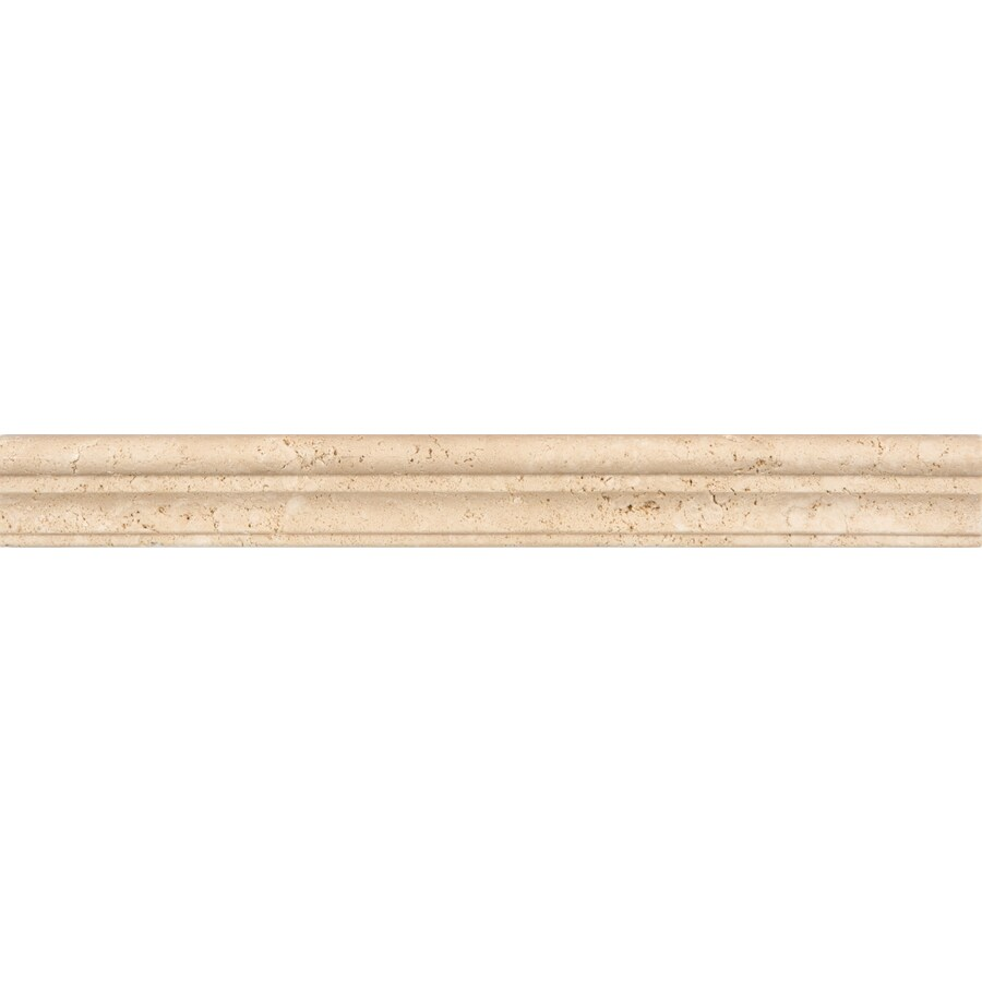 satori chiaro natural stone travertine chair rail tile 1 1 2 in x 12 in