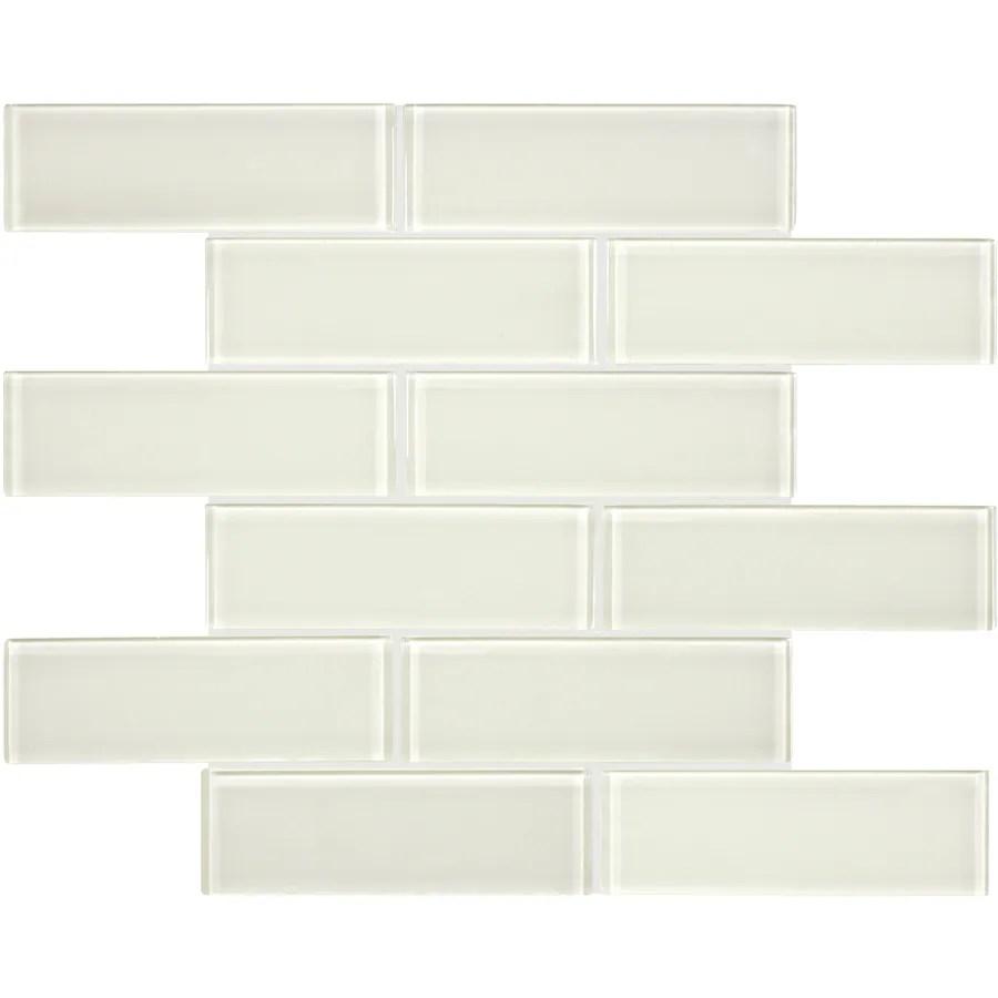 anatolia tile studio sand 12 in x 12 in glossy glass brick wall tile