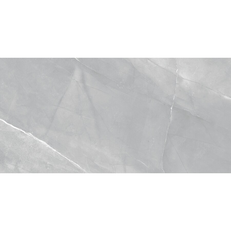 anatolia tile 8 pack paladium gray 12 in x 24 in polished porcelain marble look tile