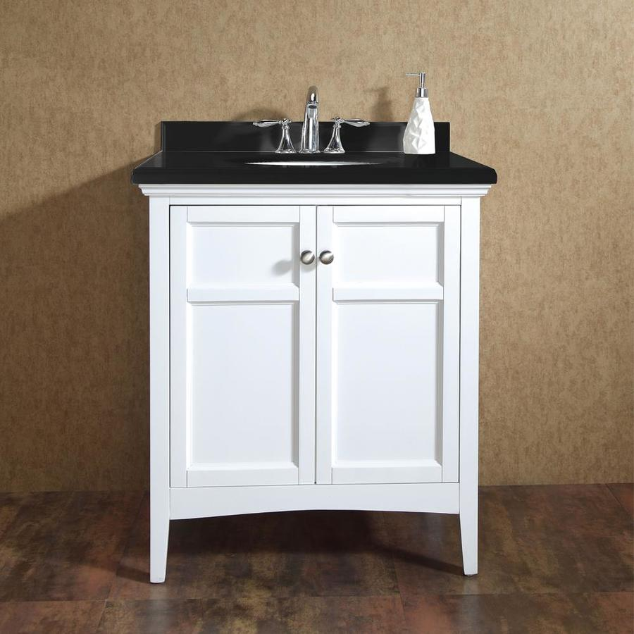 OVE Decors Campo Pure White Undermount Single Sink Bathroom Vanity With  Cultured Marble Top (Common: 30 In X 22 In; Actual: 30 In X 21 In)