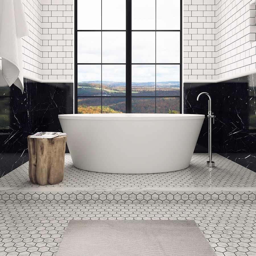 Shop OVE Decors Betsy 67 In Gloss White With Reversible Drain At