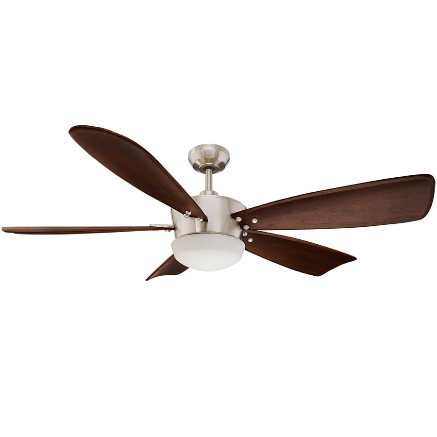 ceiling fan with light harbor breeze saratoga 60 in brushed nickel downrod mount