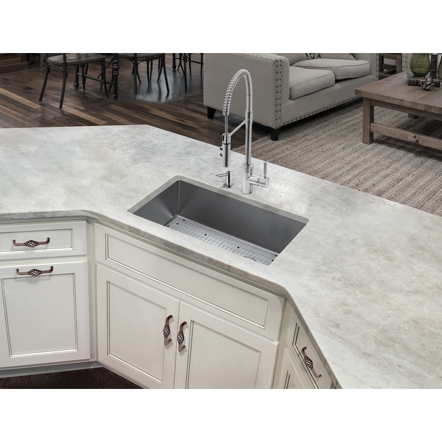 superior sinks undermount 33 in x 22 in brushed satin single bowl 3 hole kitchen sink