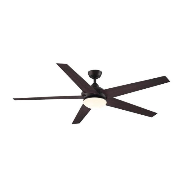 Shop Ceiling Fans at Lowes com Fanimation Studio Collection Covert 64 in Aged Bronze Indoor Outdoor  Downrod Mount Ceiling Fan