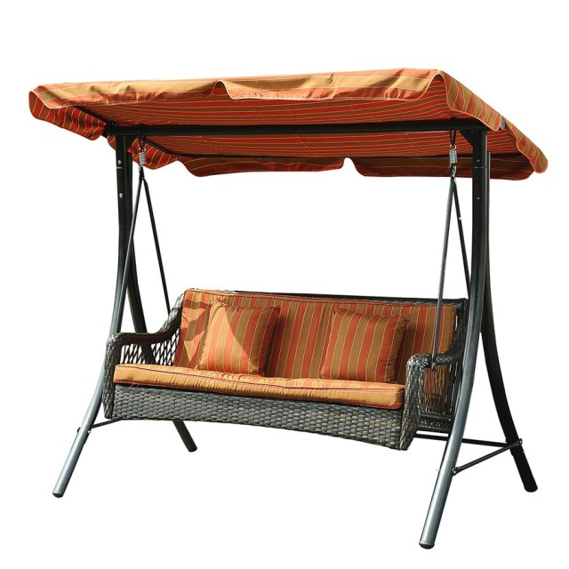 sunjoy black porch swing at lowes