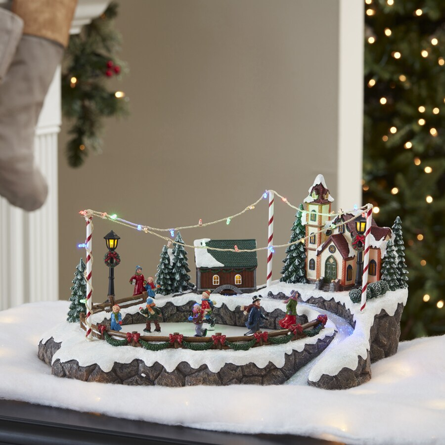 Shop Holiday Living Pre Lit Musical Resin Tabletop