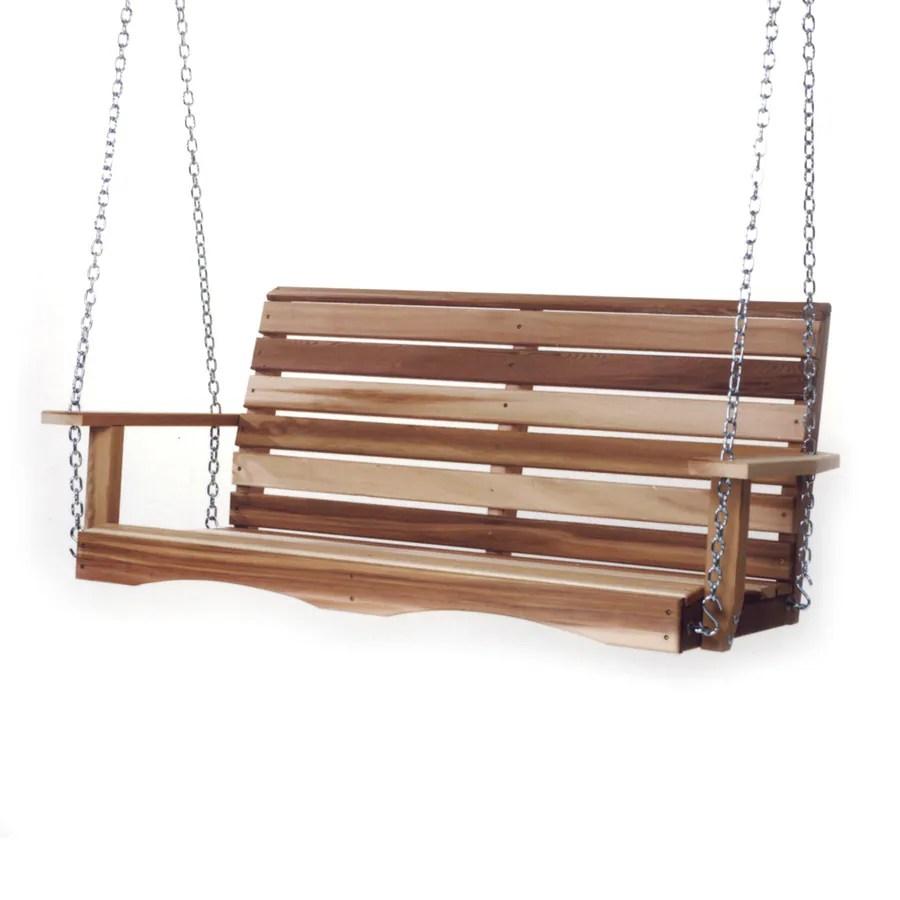all things cedar 2 person natural cedar wood outdoor swing
