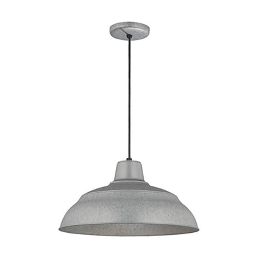 millennium lighting r series galvanized industrial dome pendant light