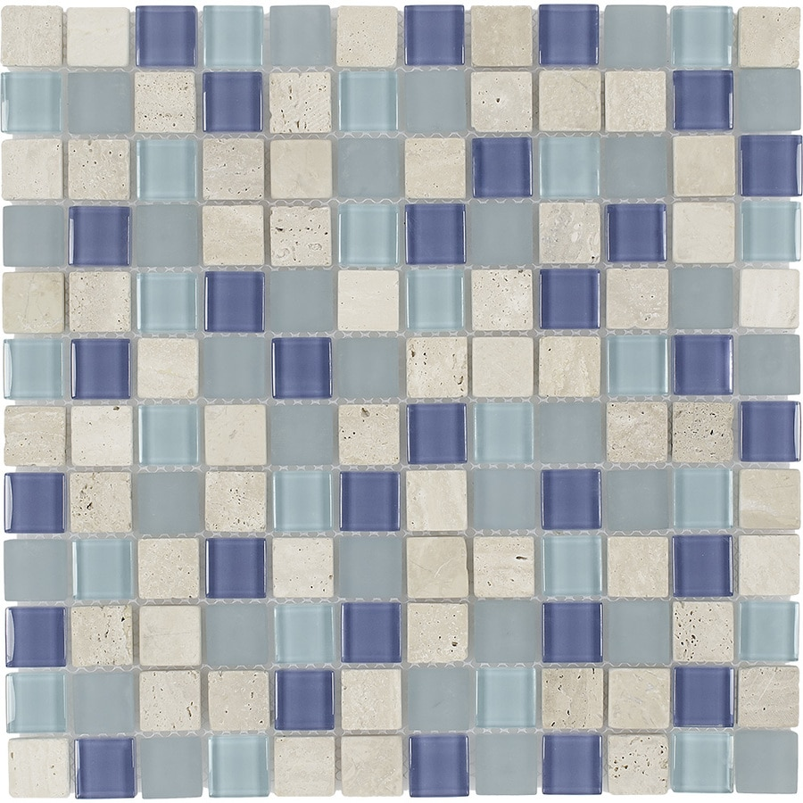 elida ceramica water springs 12 in x 12 in glossy glass stone travertine uniform squares wall tile