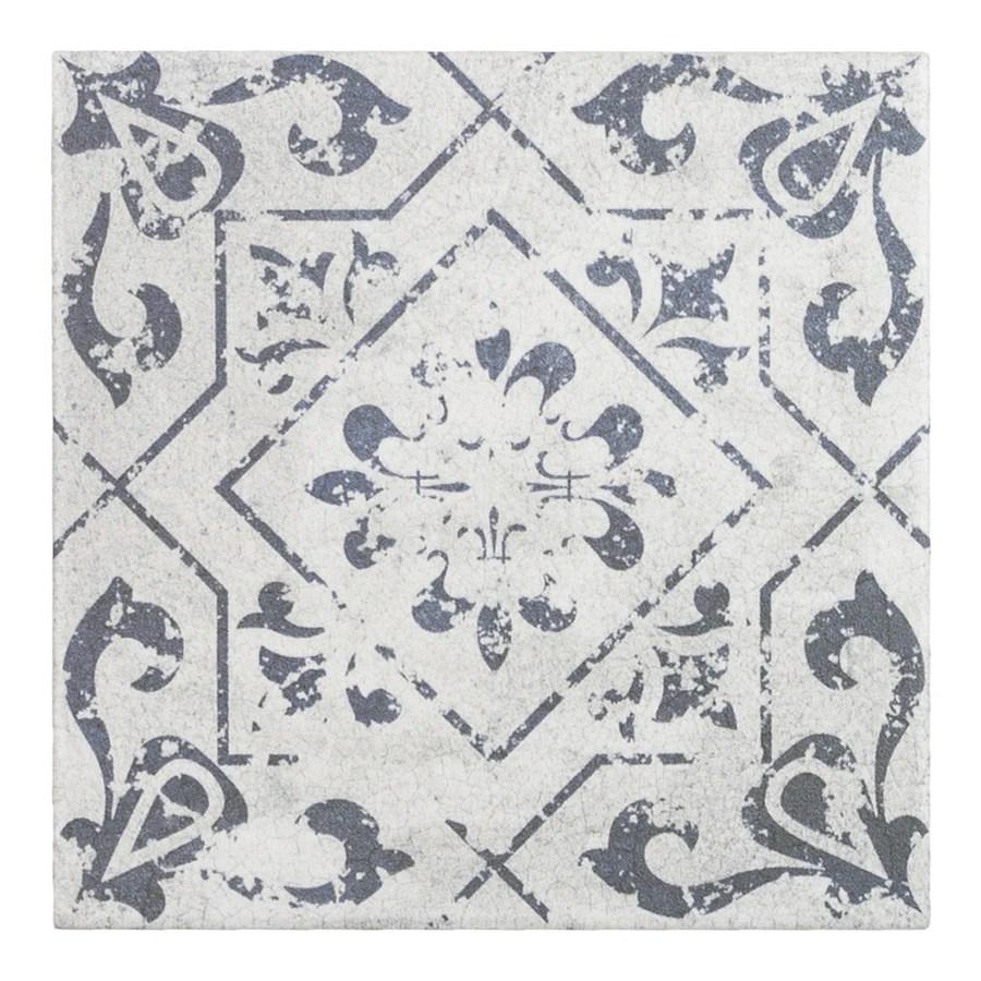 elida ceramica cardosa deco squares 6 in x 6 in matte porcelain encaustic floor and wall tile lowes com