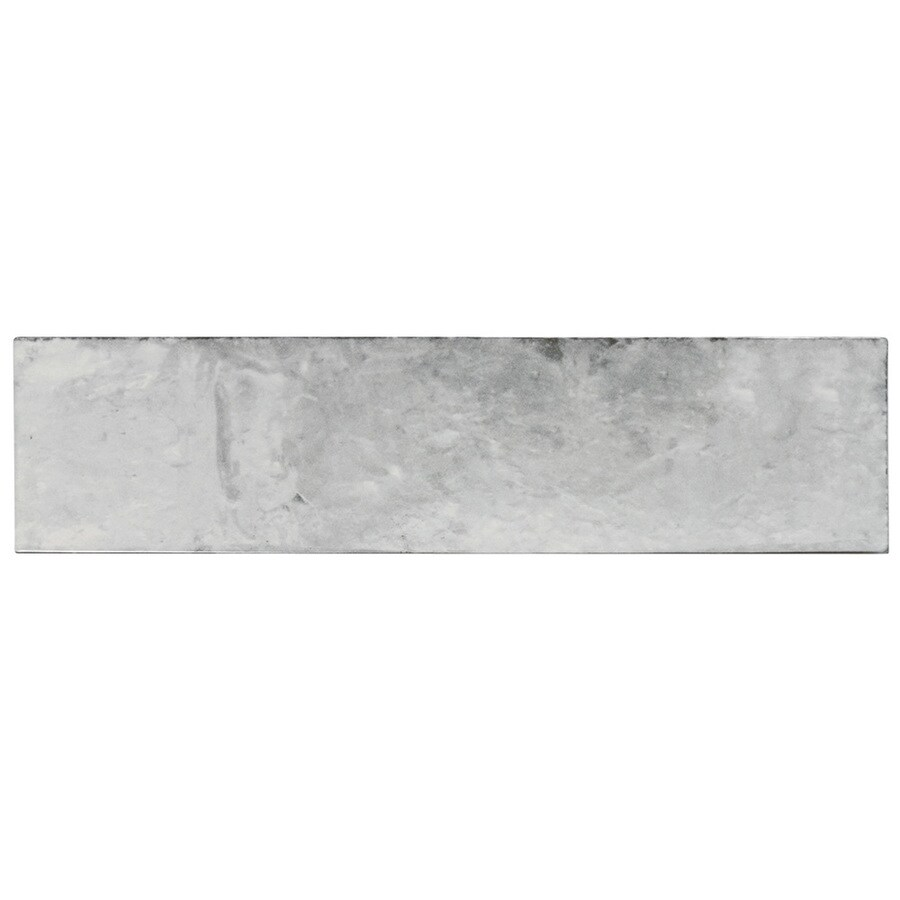 boutique ceramic stone harbor grey 3 in x 12 in glazed ceramic stone look wall tile
