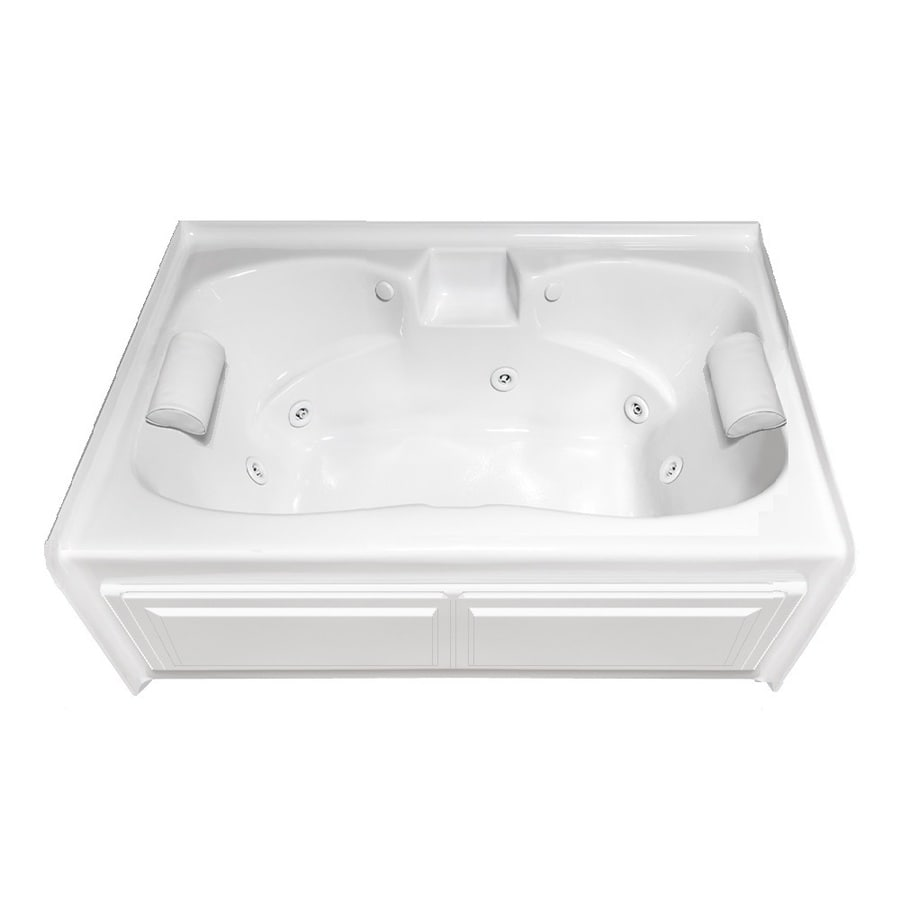 Shop Laurel Mountain Alcove Plus 5975 In White With Front Center Drain At