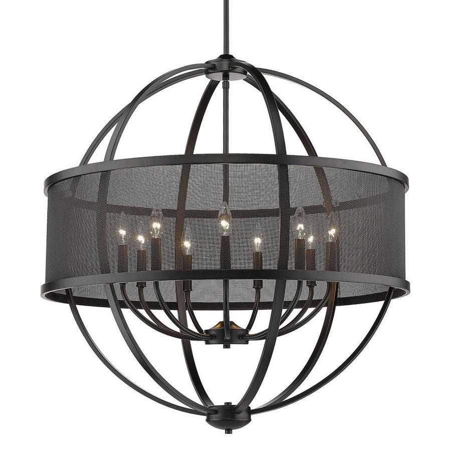 golden lighting colson 9 light matte black farmhouse chandelier