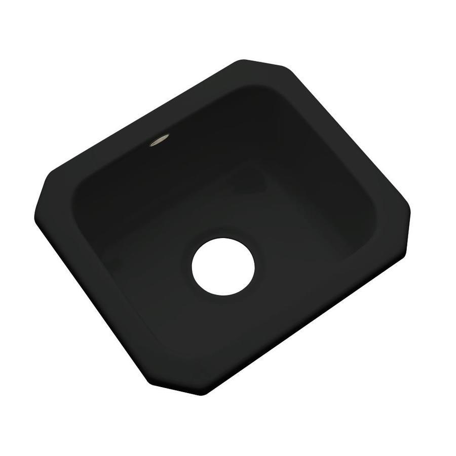 dekor 14 in l x 16 in w black acrylic undermount residential bar sink