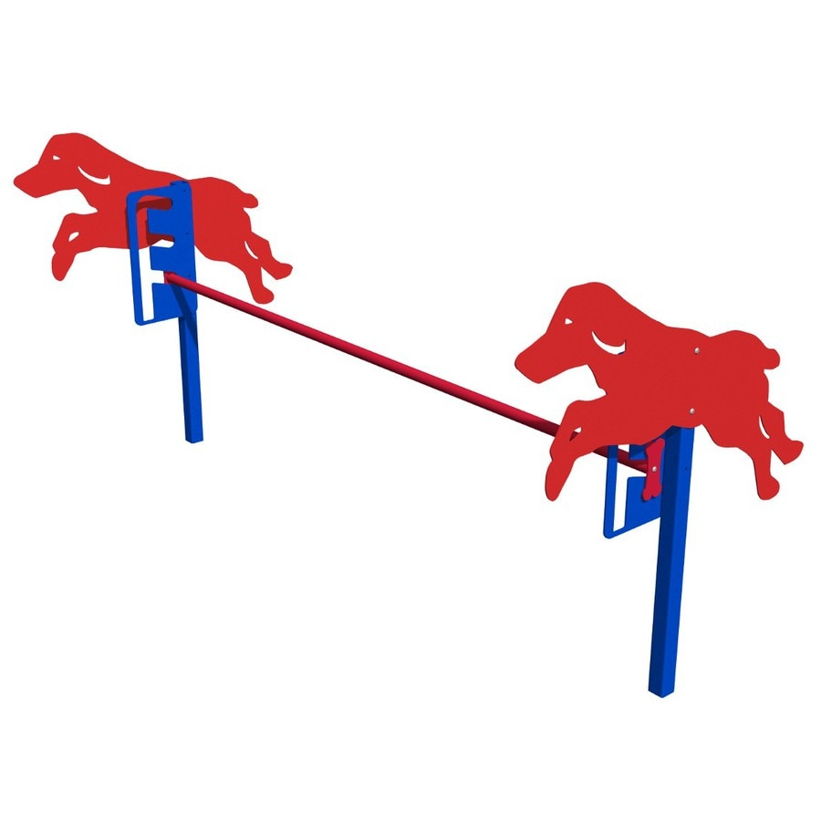 Ultra Play Blue And Red Dog Park Jump Gates At