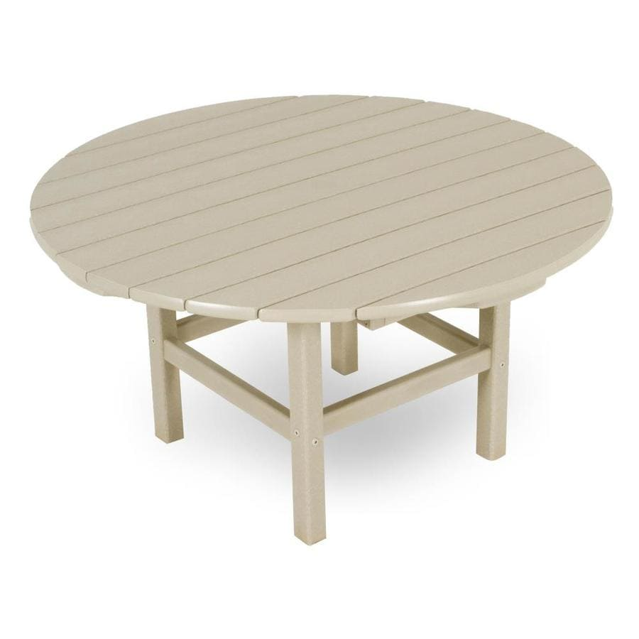 polywood round outdoor coffee table 38 in w x 38 in l
