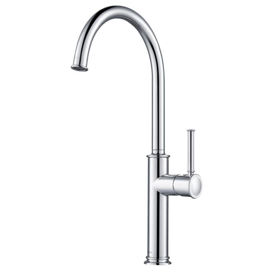 kraus sellette chrome 1 handle deck mount bar and prep handle kitchen faucet