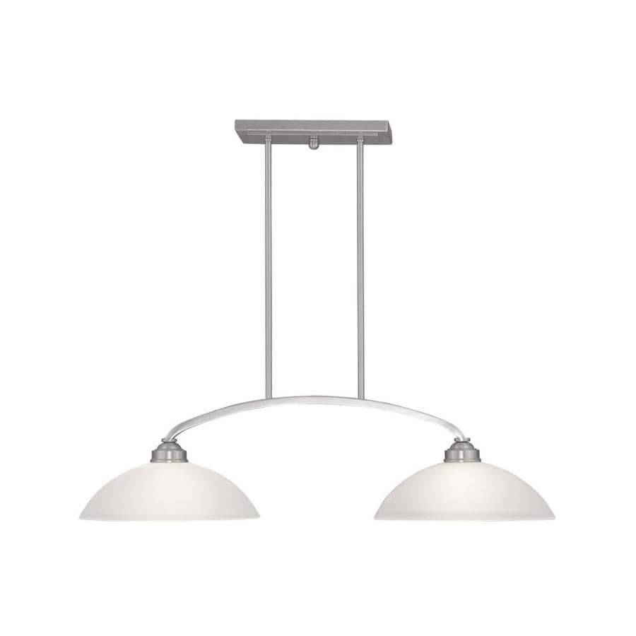 livex lighting somerset brushed nickel transitional kitchen island light