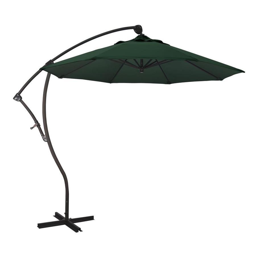 california umbrella 9 ft forest green auto tilt cantilever patio umbrella