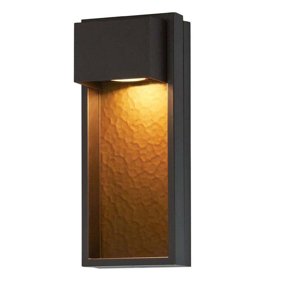 portfolio 15 9 in h bronze dark sky led outdoor wall light energy star