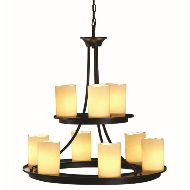 Allen Roth Harpwell 25 In 9 Light Oil Rubbed Bronze Chandelier