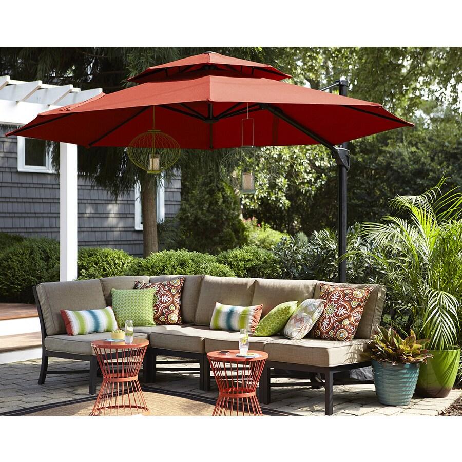 garden treasures patio umbrella in the patio umbrellas department at lowes com