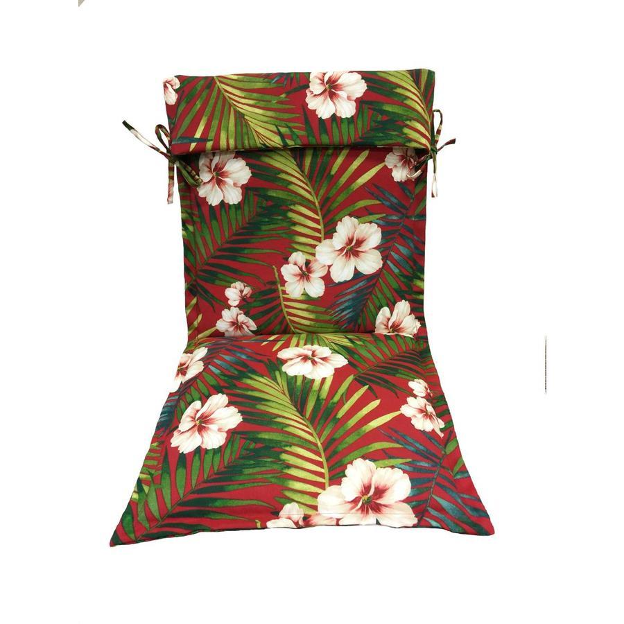 garden treasures red standard patio chair cushion