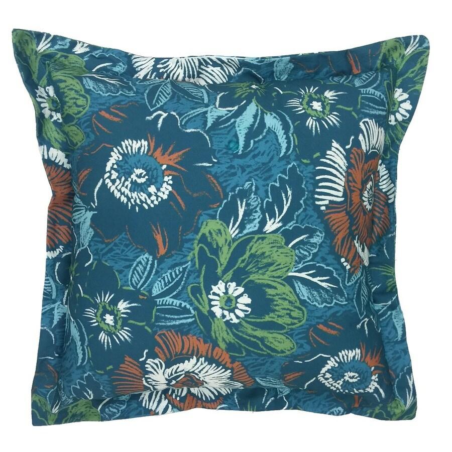Allen Roth Desert Floral Outdoor Decorative Pillow At