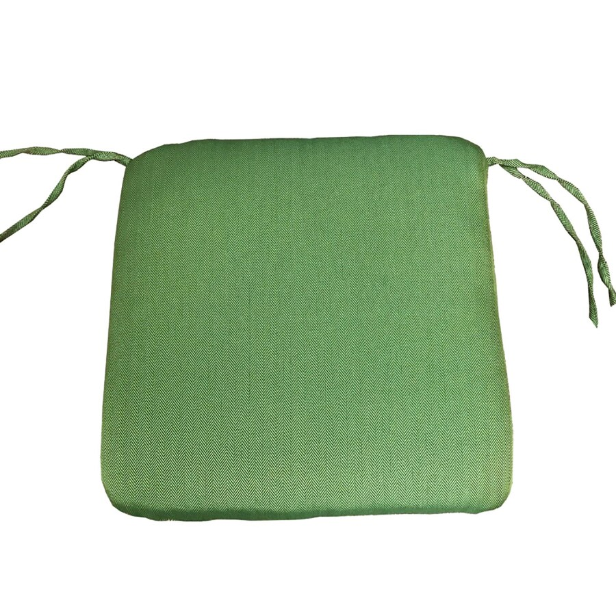 allen roth outdoor cushion solid green seat pad