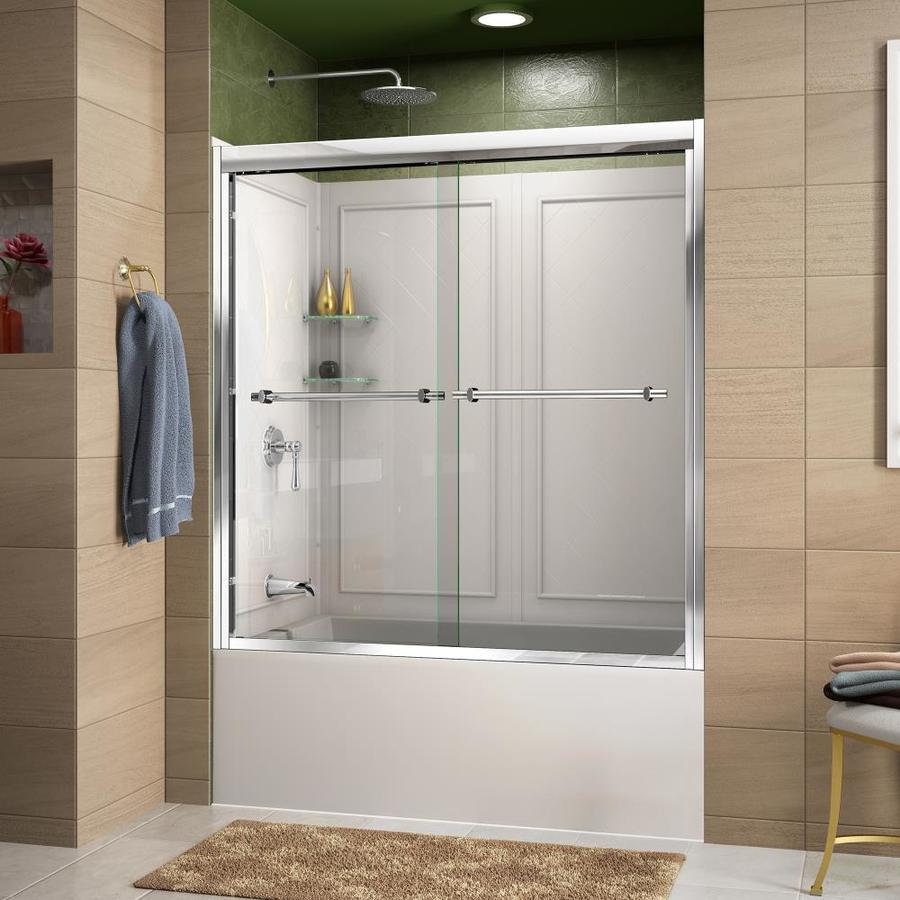 DreamLine Duet Chrome 2 Piece Bathtub Shower Kit Common