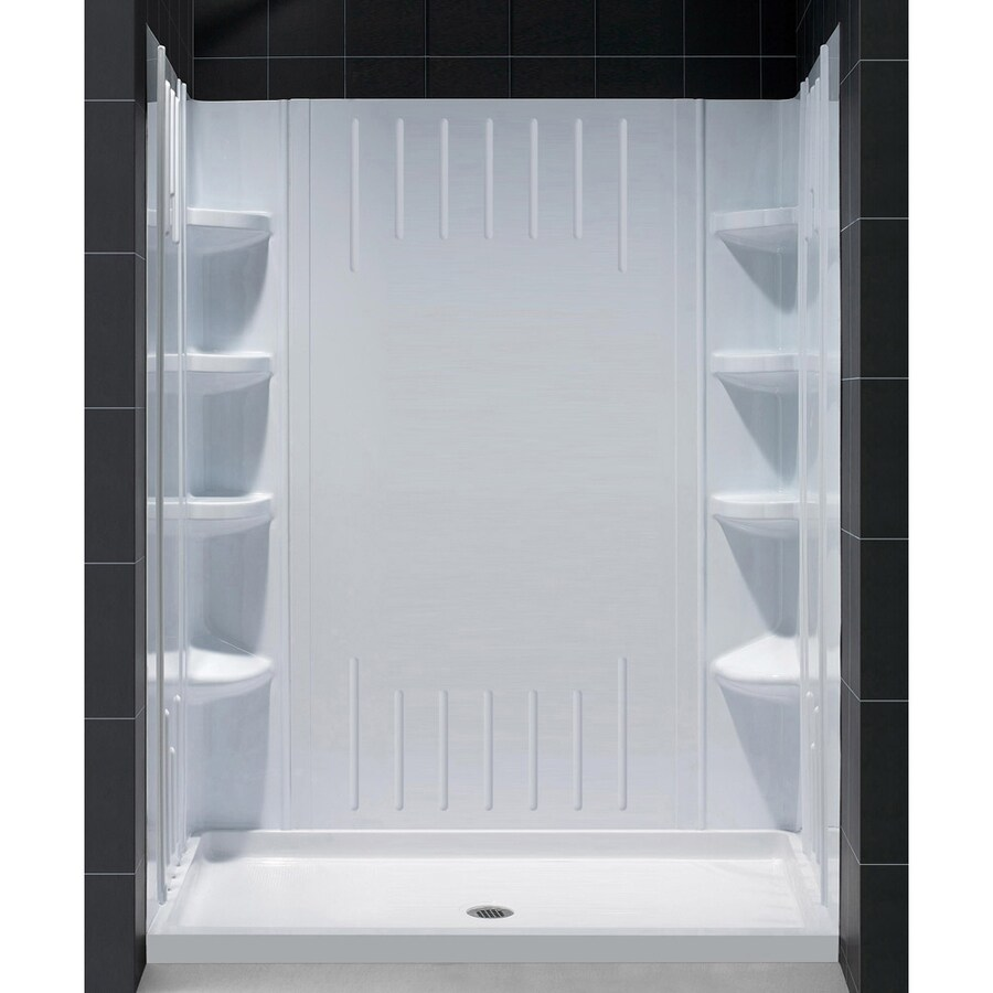 Shop DreamLine QWALL 3 White Shower Wall Surround Side And Back Panels Common 41 In X 60 In