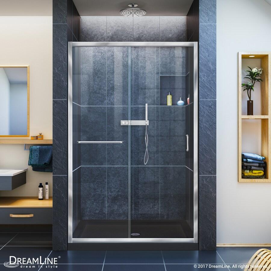 ᓂ DreamLine Infinity-Z Chrome 2-Piece Alcove Shower Kit (Common: 48 ...