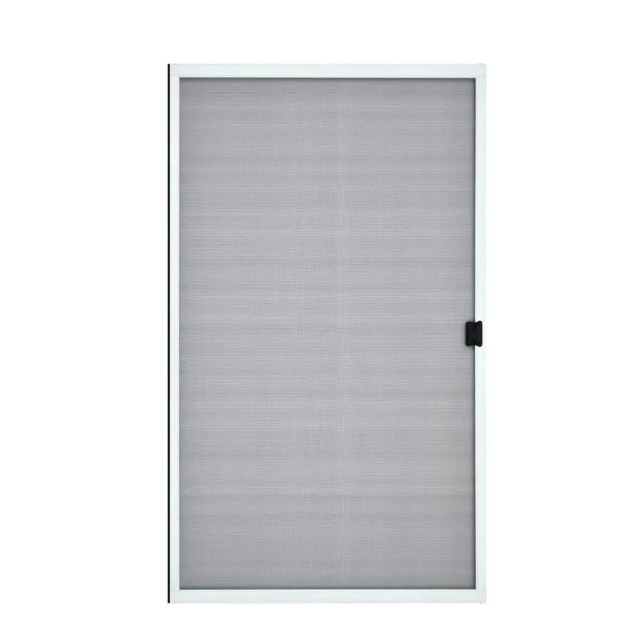 grisham 48 in x 80 in white steel frame sliding curtain screen door