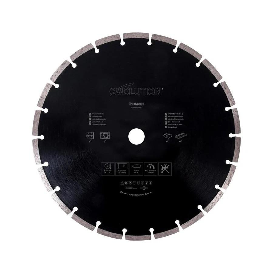 evolution 12 in wet or dry segmented diamond circular saw blade